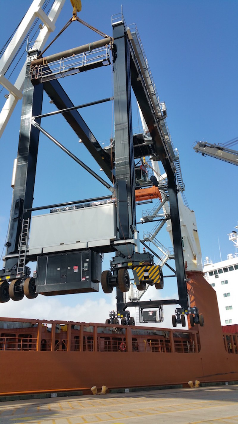 Konecranes hybrid RTGs will be delivered to Houston (pictured) and Charleston in Q1
