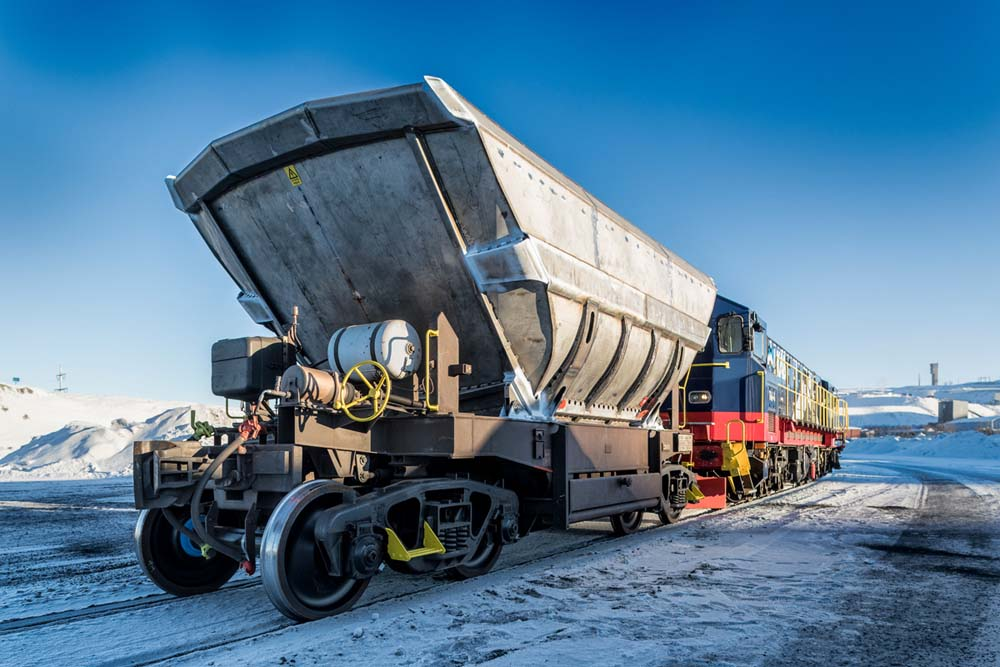 Kiruna Wagon was commissioned to refurbish 50 bottom dumpers for raw materials transport