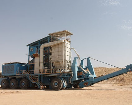 Magna Tyres equips two giant mobile crushers