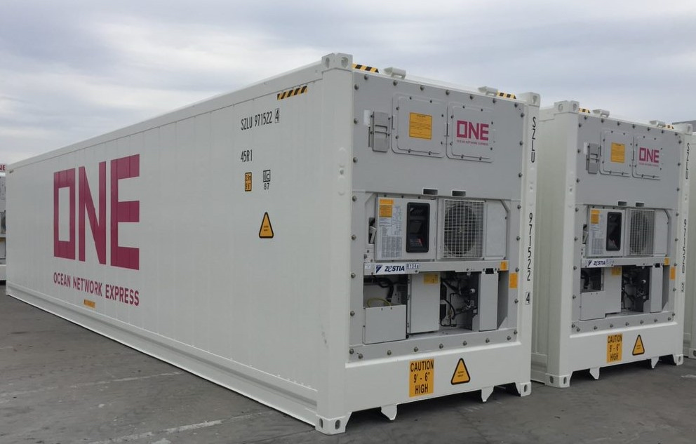 A ONE reefer with Daikin machinery