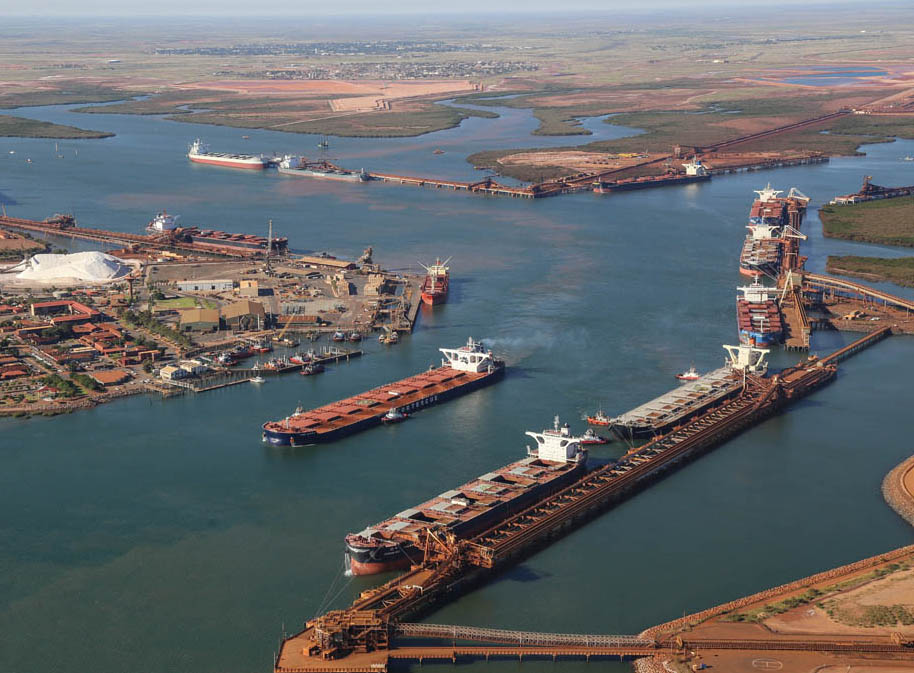 Final stages approach for Hedland deepening