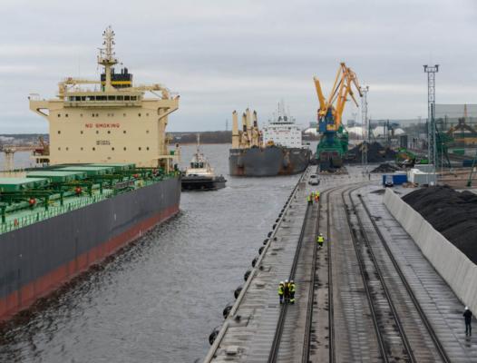 Coal handling starts at new Riga terminals