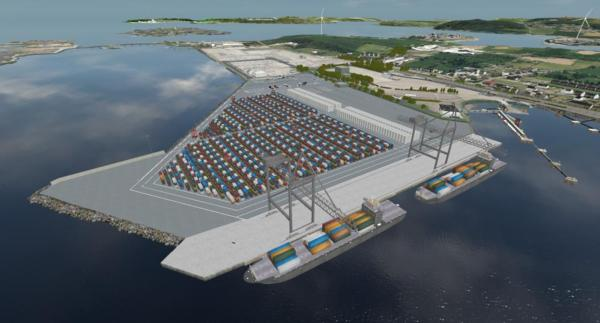 An impression of the new container terminal