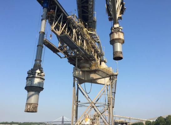 Vortex launches shiploading chute for grain handling