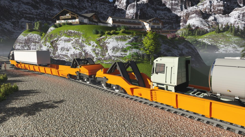 If one looks at VIIA, for examFlexiwaggons in a dedicated freight block train