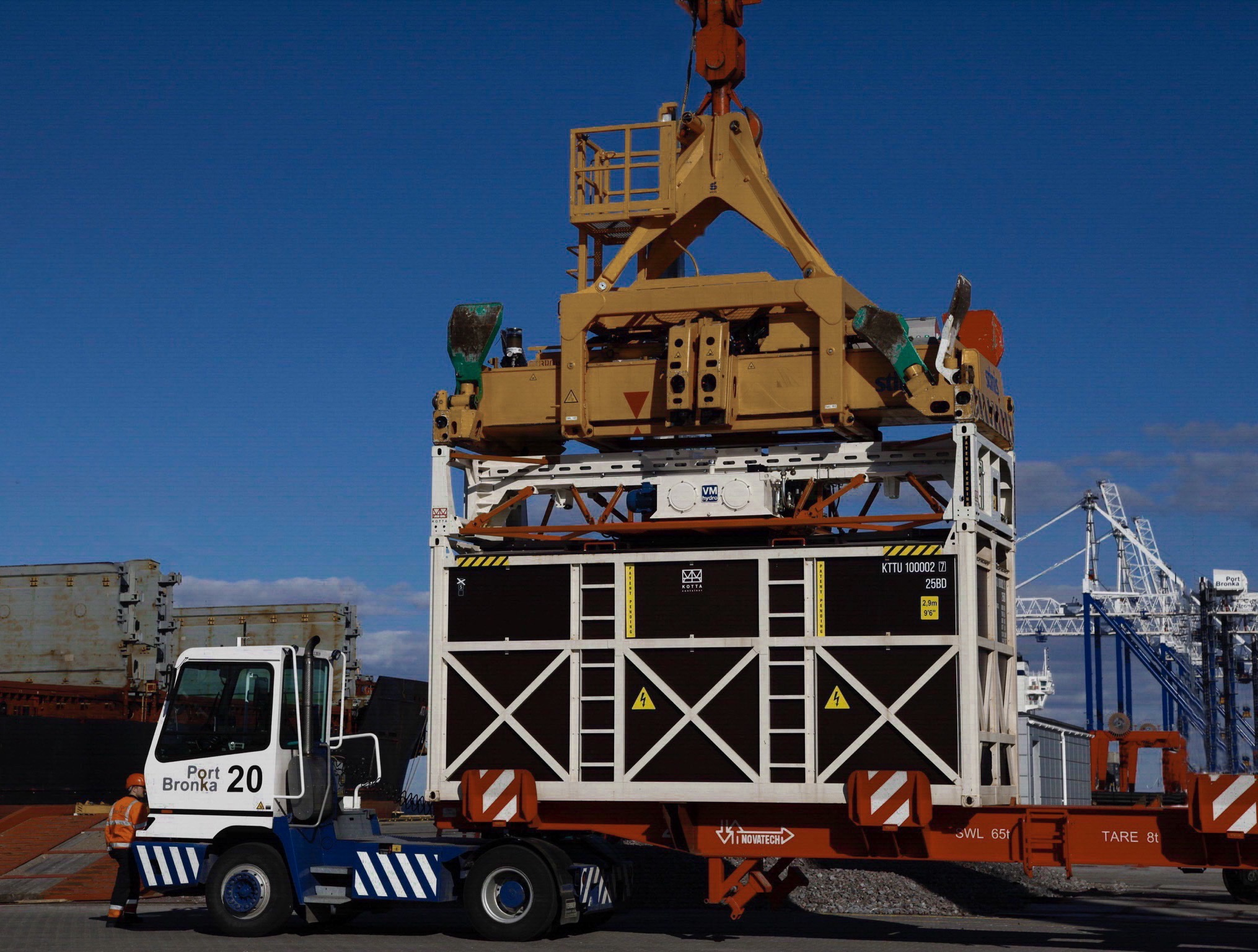 New system for Containerised bulk