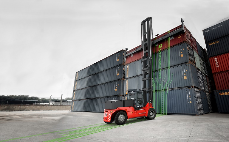 Kalmar launches electric 4-high ECH mast truck