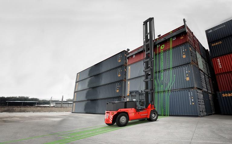 Kalmar launches electric 4-high ECH mast truck