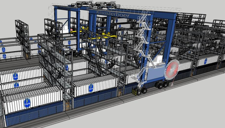 Around one third of the slots will be plug-in slots for reefers