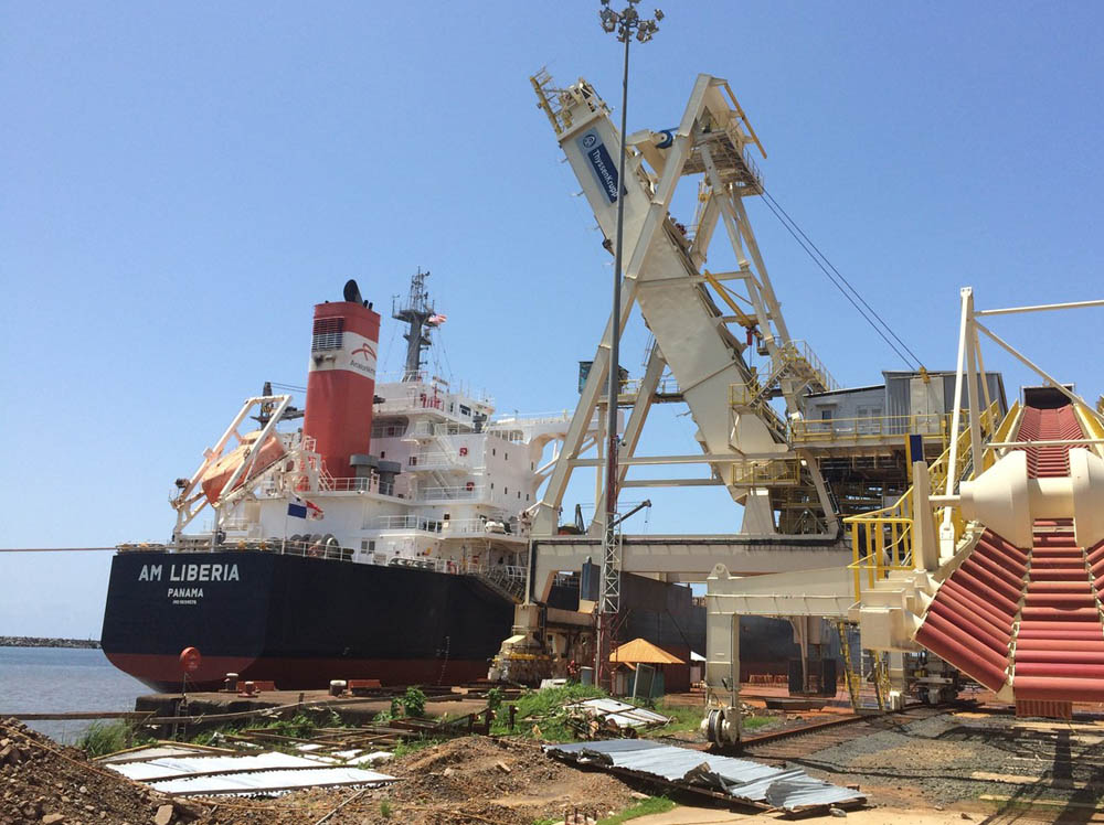 The plan would see iron ore exported via the Port of Buchanan