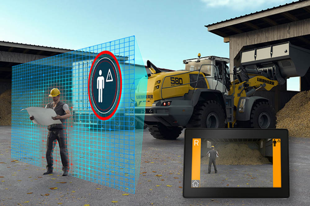 The Liebherr active rear person recognition helps prevent accidents that could result in personal in