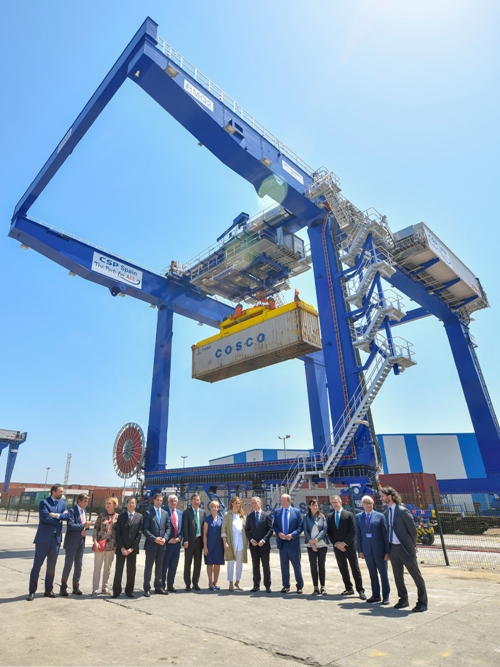 In total €10M has been invested to provide increased on-dock intermodal rail capacity