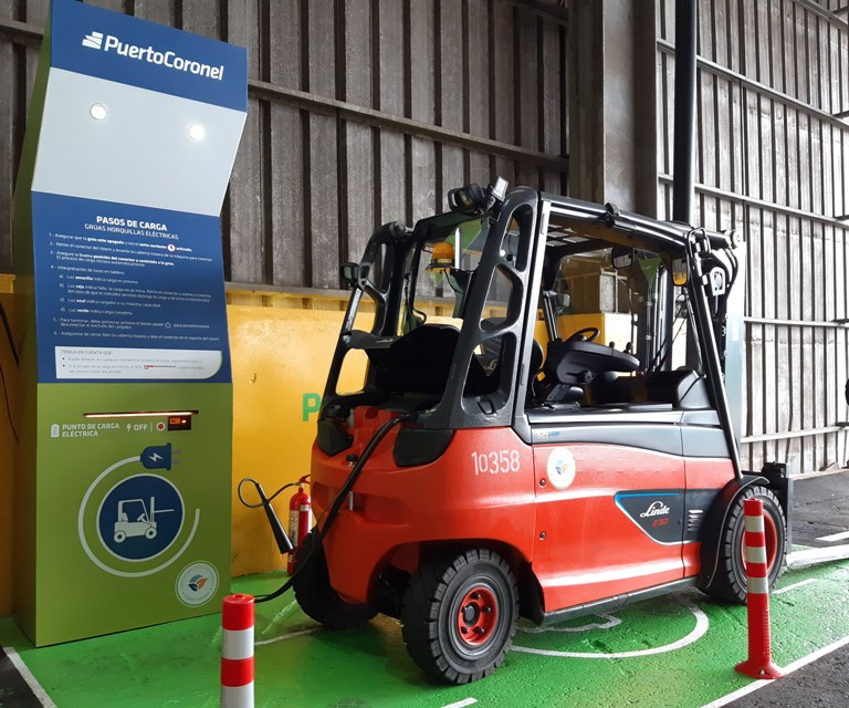 Worldcargo News News Puerto Coronel Claims Electric First