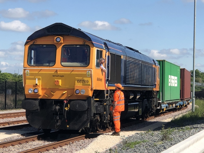 Arrival of the new Felixstowe service at iPort Rail