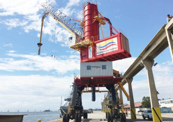 Genma ship-unloader for Guangxi grain operation