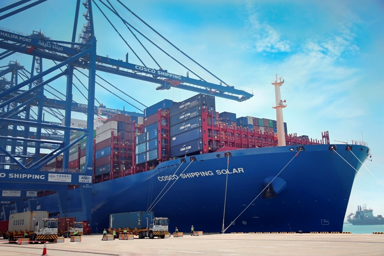 Two mega-vessels call at CSP Abu Dhabi Terminal within a month