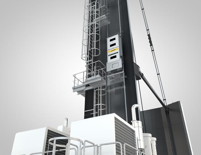 Liebherr presents LiUP crane driver elevator