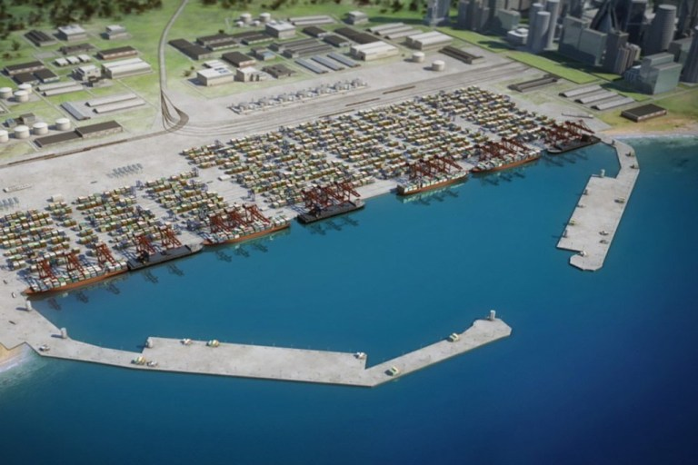 Impression of a Anaklia deep water port from Anaklia Development Consortium