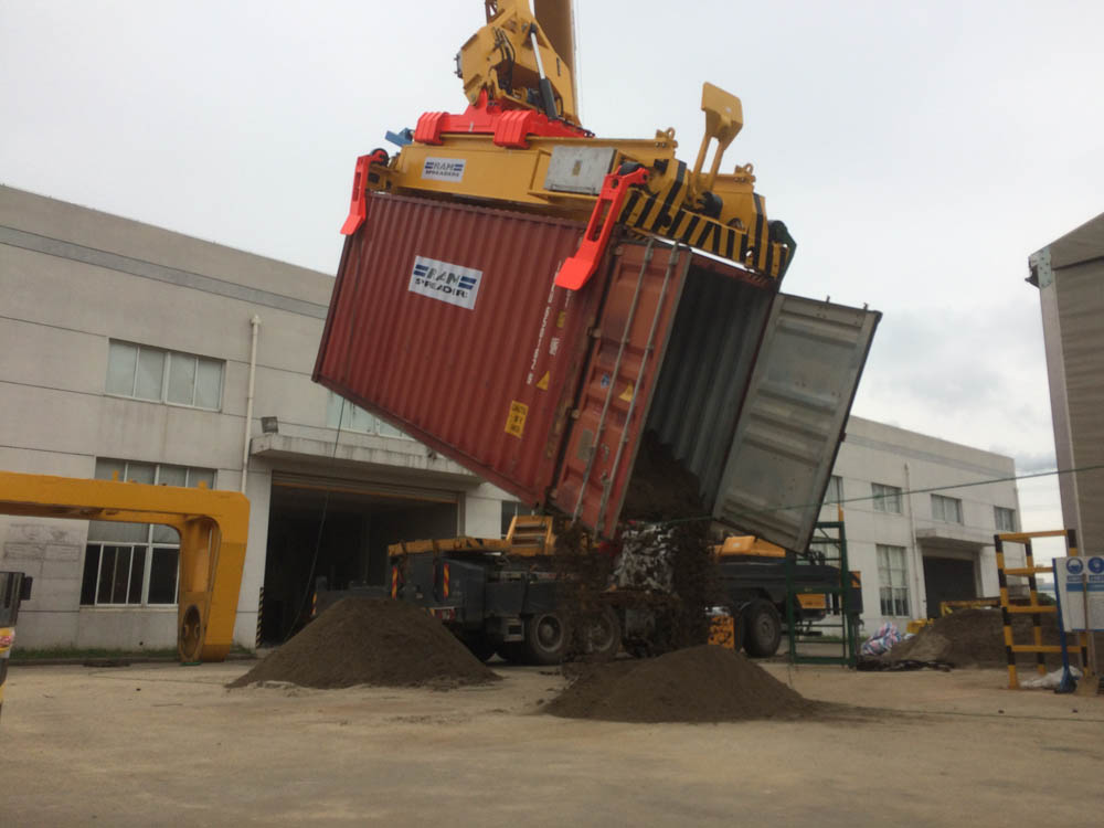 RAM's new container tipping system for unloading bulk from standard ISO containers