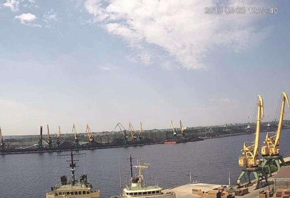 Coal dust surveillance camera for Riga