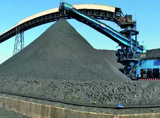 Schade Active Harrow to homogenise coal mix