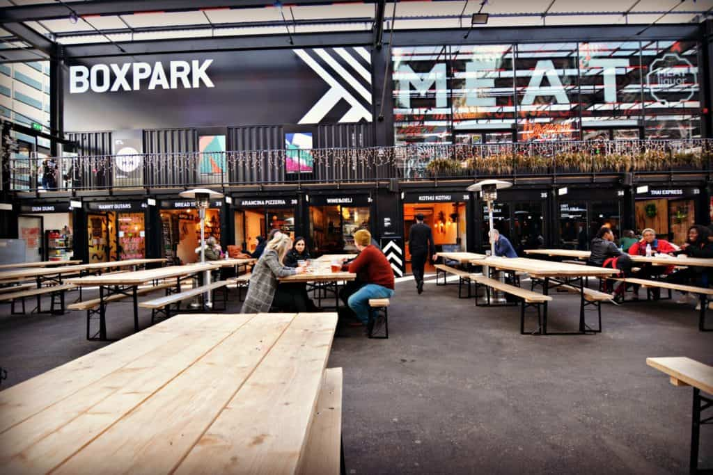 BoxPark Croydon is one of the world's largest containerised food/beverage pop-up malls
