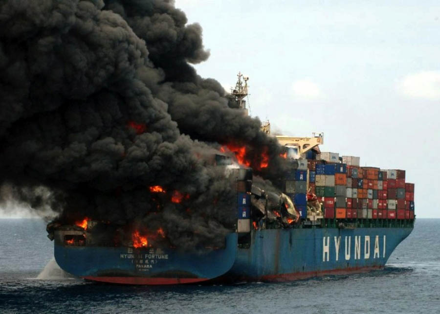 The increasing number of ship fires is resulting in insurance premiums being hiked