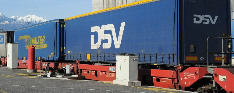 VIIA train as now used by DSV arriving in Le Boulou from Calais