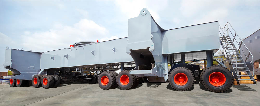 The MHC has an extended chassis with an additional axle to cope with quay loading requirements