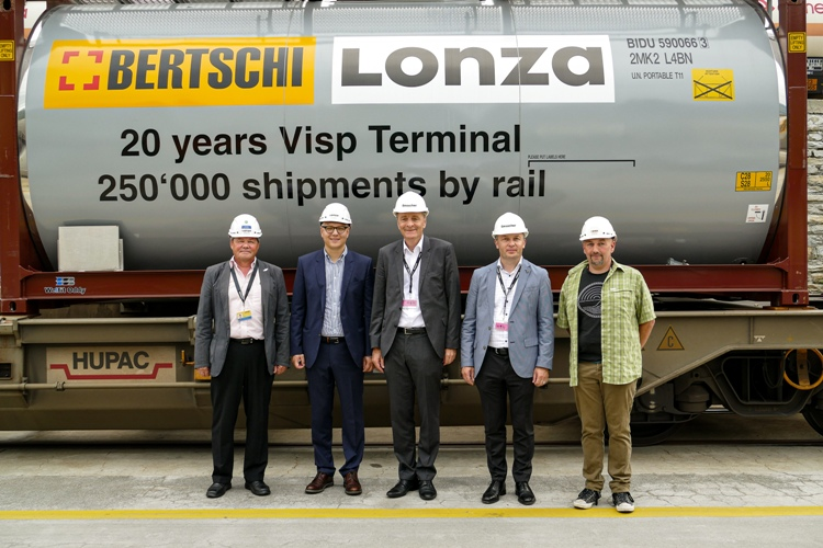 Lonza Visp - 250,000 containers in 20 years
