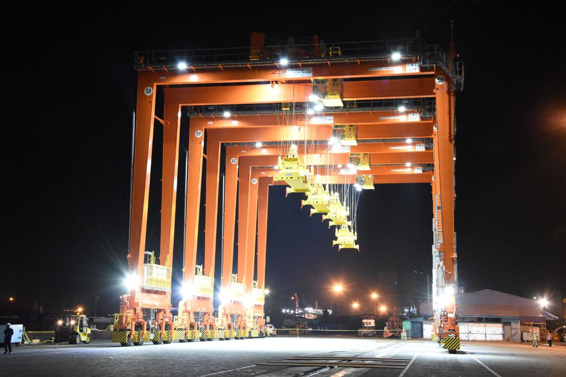 ICTSI has taken delivery of more hybrid RTGs from Mitsui Engineering & Shipbuilding