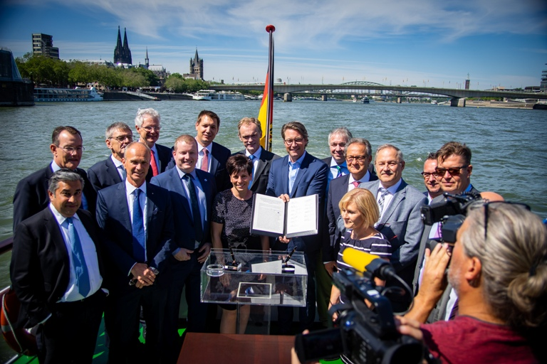 Germany's Rhine low water contingency planning