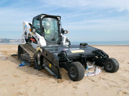 Bobcat sand cleaner fights plastic peril