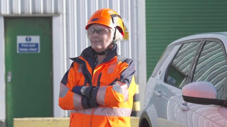 Tina Raleigh, ABP's Quality and Environmental Systems Manager, compliance wearing the new PPE