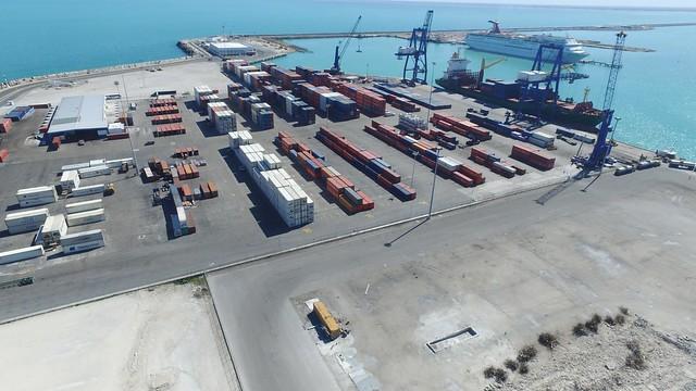 The Progreso container terminal