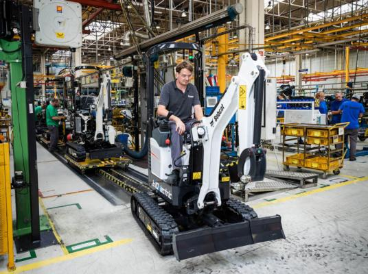 First Bobcat electric excavator comes off the production line