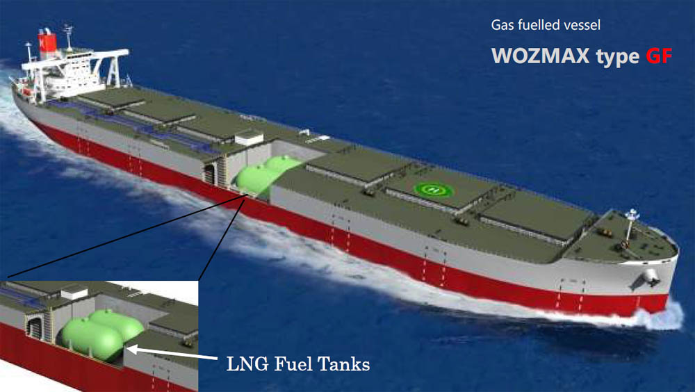 LNG-fuelled ore carrier design wins joint AIP