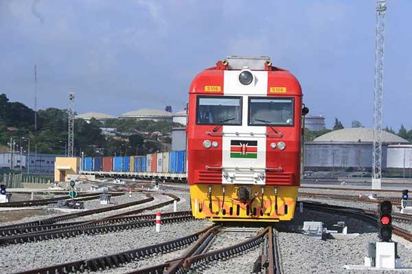Container train on the SGR. (Photo: Daily Nation)
