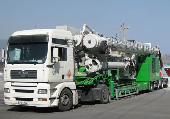 Road-mobile Siwertell ship-unloader for Ashdod