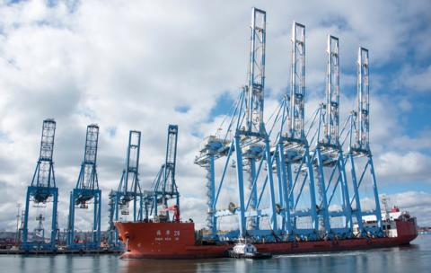 Following a crane upgrade at Husky Terminal the NWSA wants to sell the older cranes on the left.