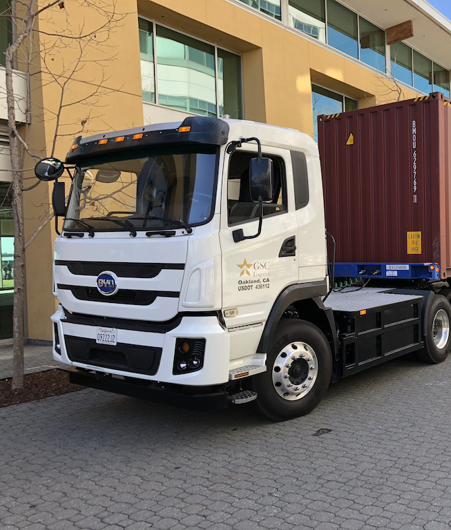 GSC Logistics is testing an electric truck from BYD