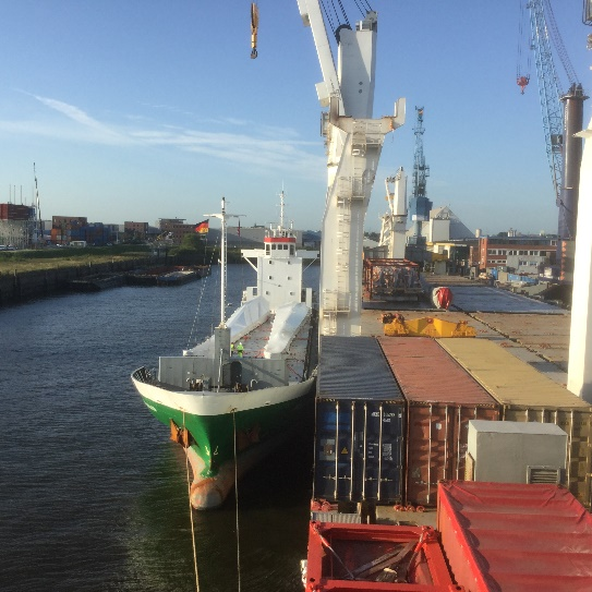 The moulds were transhipped in Hamburg to the MV Chipolbrok Moon.