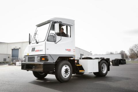 Kalmar Ottawa T2E electric terminal tractor with Transpower drive line