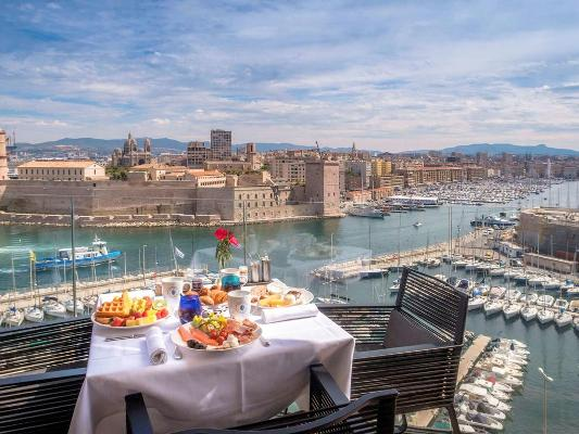 Something to look after - Marseille Vieux Port viewed from the Sofitel