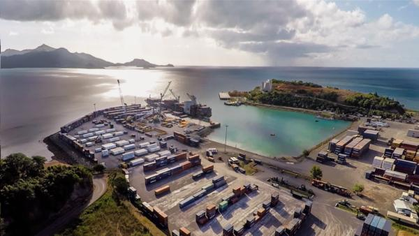 The picturesque Longoni Port in Mayotte