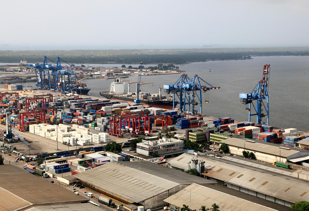 The new Aerohub is close to Bolloré's container terminal in Abidjan