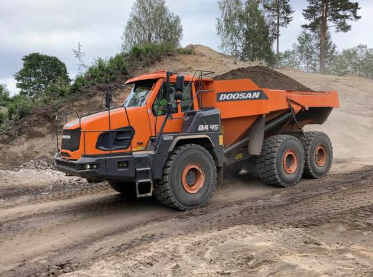 Doosan launches Stage V articulated dump trucks