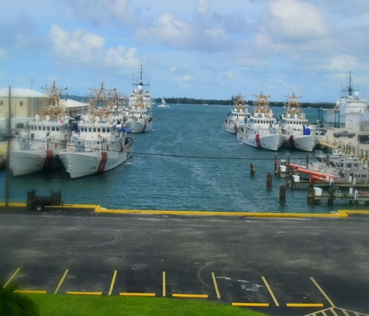 US Coast Guard cutters gathered in Key West. Photo Petty Officer 2nd Class Jonathan Lally.