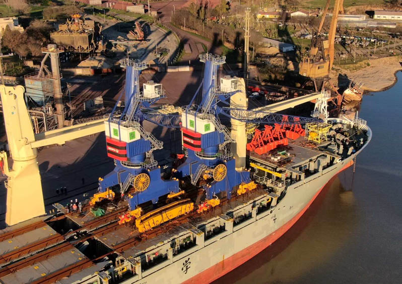 Genma MHCs arrive at San Nicolas port