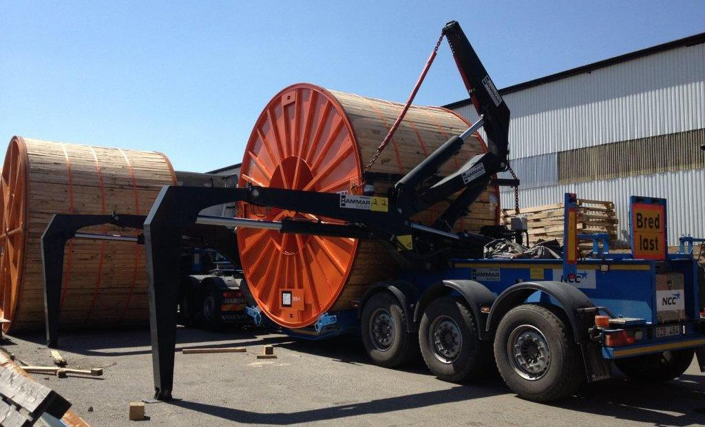 Hammar's drum loaders can now cater for a big range of cable drum sizes